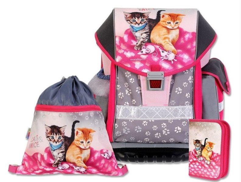 EMIPO Školní batoh ERGO TWO Cats & Mice set 3v1