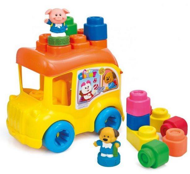 BABY CLEMENTONI, Školní autobus s postavičkami a kostkami
