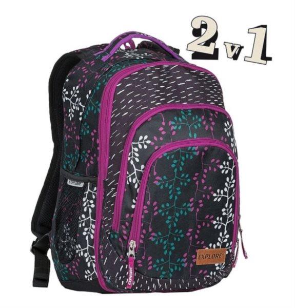 EXPLORE Školní batoh 2v1 BAR Vine e4308a1105