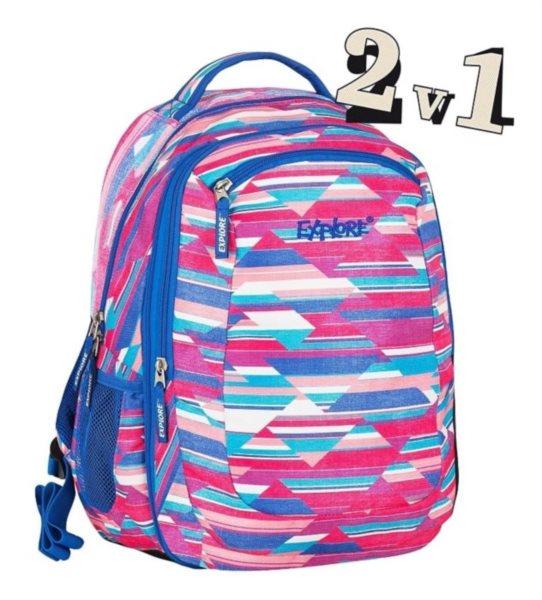 Explore skolni batoh 2v1 viki stripes  372e895edc