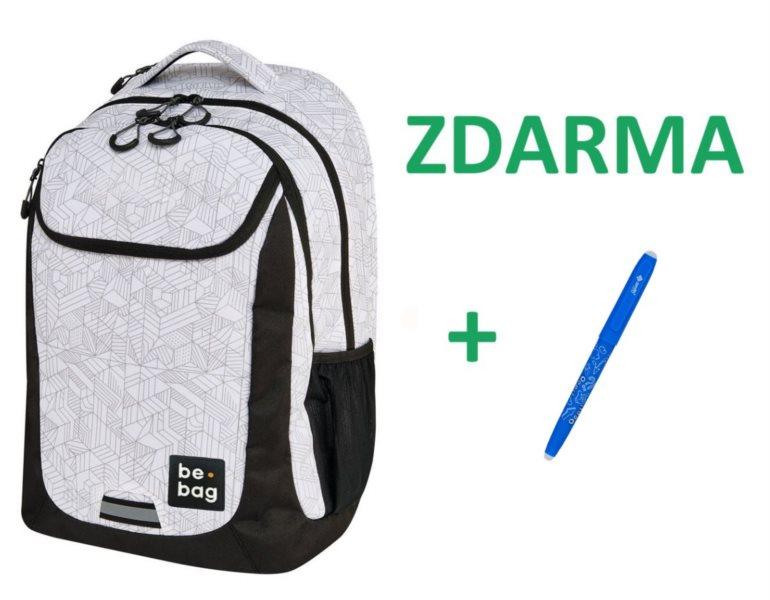 HERLITZ Školní batoh be.bag Block + zdarma mazací pero