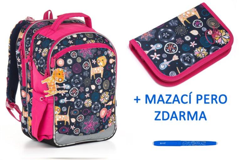 TOPGAL Školní batoh CHI 876 set 2v1 + zdarma mazací pero