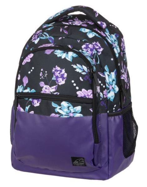 c3a8f2073a WALKER Školní batoh CLASSIC Flower Violet