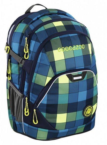 COOCAZOO Školní batoh EvverClevver modrozelený