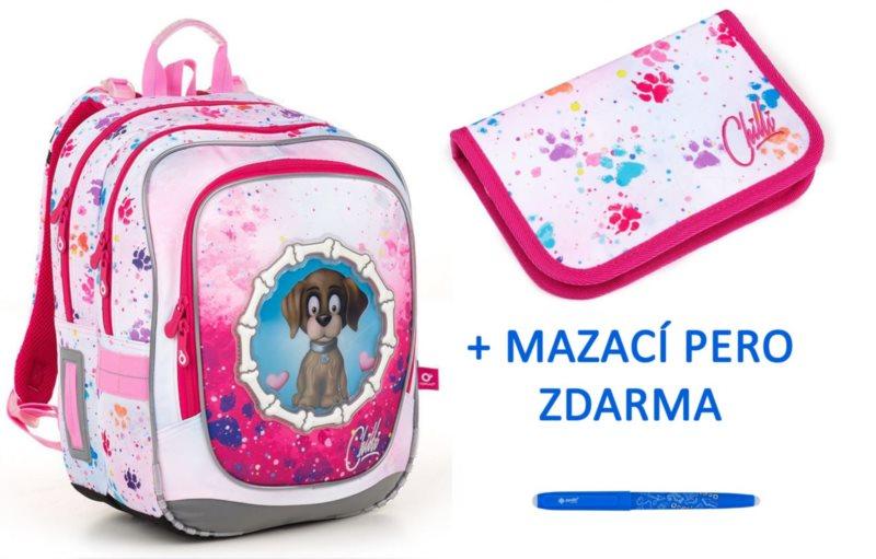 TOPGAL Školní batoh ENDY 18017 set 2v1 + zdarma mazací pero