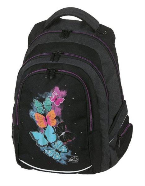 WALKER Školní batoh FAME Butterfly 5fc8bbe6fe