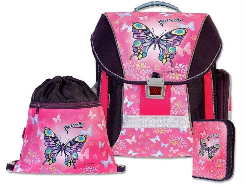 EMIPO Školní batoh Butterfly set 3v1 374e550a50