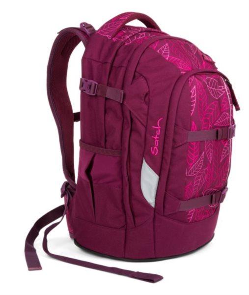 SATCH Školní batoh Purple Leaves 79276d6d84
