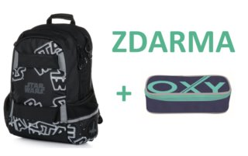 OXYBAG Školní batoh Star Wars + zdarma penál