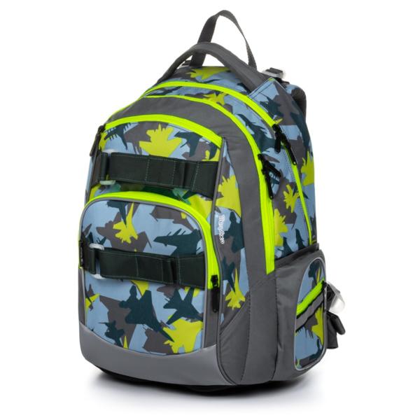OXYBAG Školní batoh Style mini camoflight