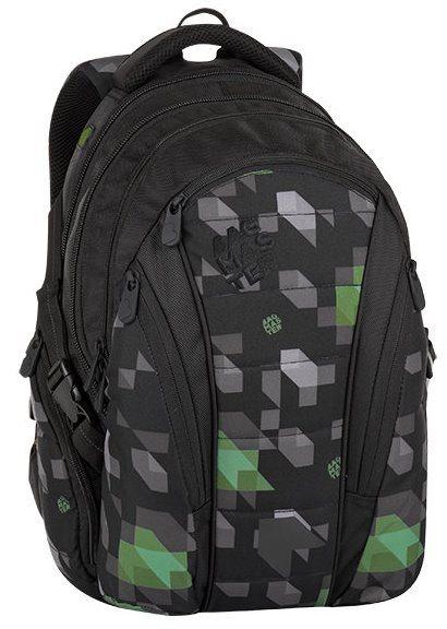 BAGMASTER Školní batoh BAG černozelený