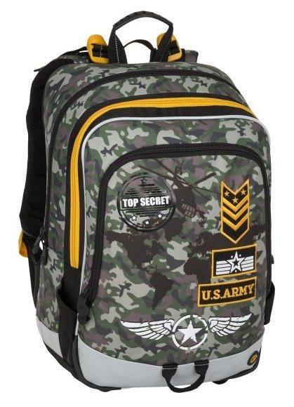 BAGMASTER Školní batoh ALFA army