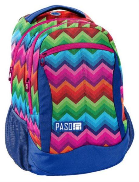 PASO Školní batoh Unique - Duhový