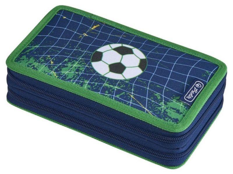 HERLITZ Školní penál dvoupatrový Fotbal