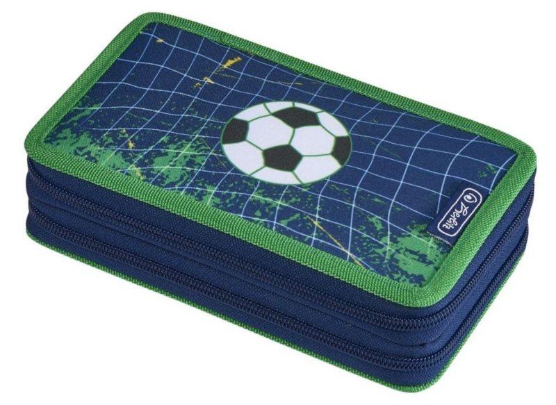 HERLITZ Školní penál dvoupatrový s vybavením Fotbal