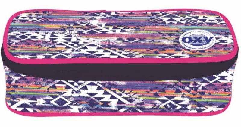 OXYBAG Školní penál etue komfort jednopatrový Aztek