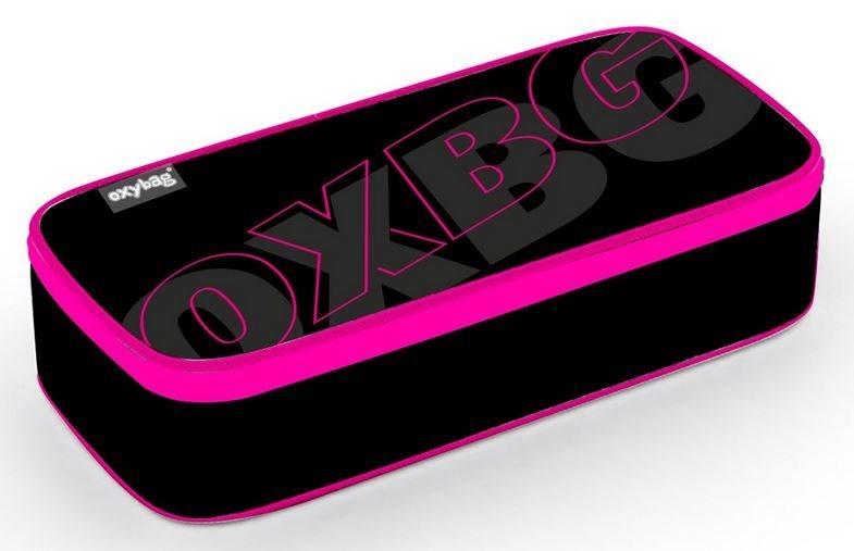 OXYBAG Školní penál etue komfort jednopatrový Black Line Pink