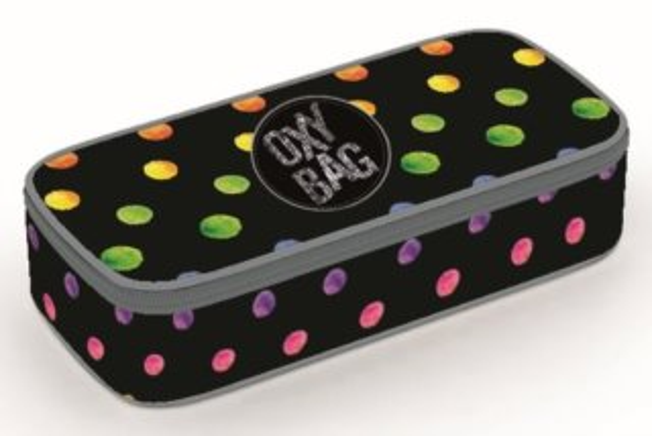OXYBAG Školní penál etue komfort jednopatrový Dots Colors