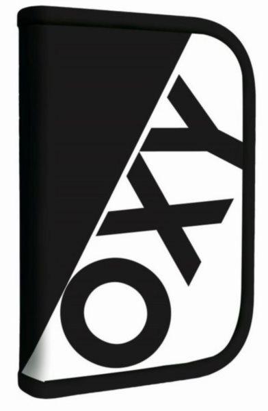 OXYBAG Školní penál jednopatrový Neon Line Black & White