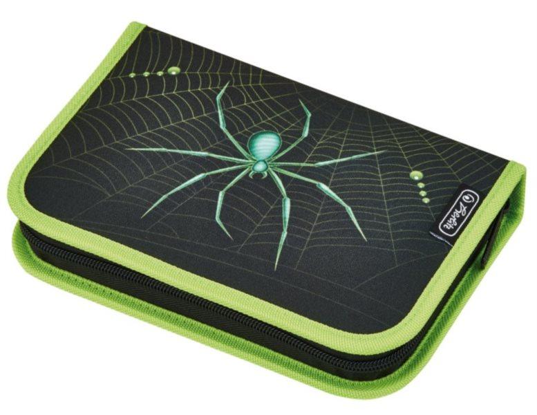 HERLITZ Školní penál jednopatrový s vybavením Pavouk
