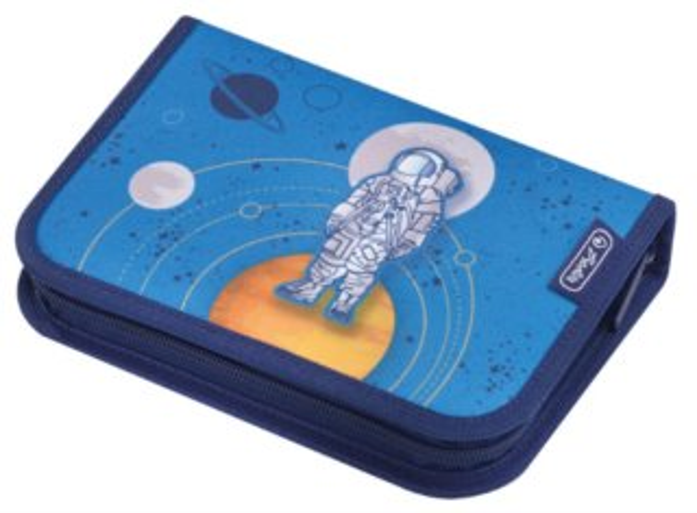 HERLITZ Školní penál jednopatrový s vybavením Vesmír
