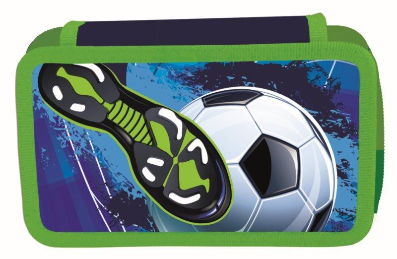 OXYBAG Školní penál třípatrový Fotbal