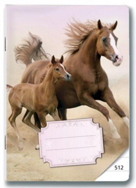 Školní sešit 512 Koně