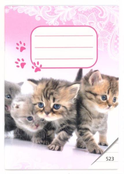 BONAPARTE Školní sešit 523 Koťátka