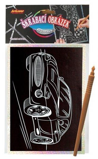 ARTLOVER Holografický škrabací obrázek - Auto