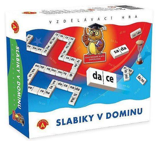 ALEXANDER Dětská vzdělávací hra Slabiky v dominu