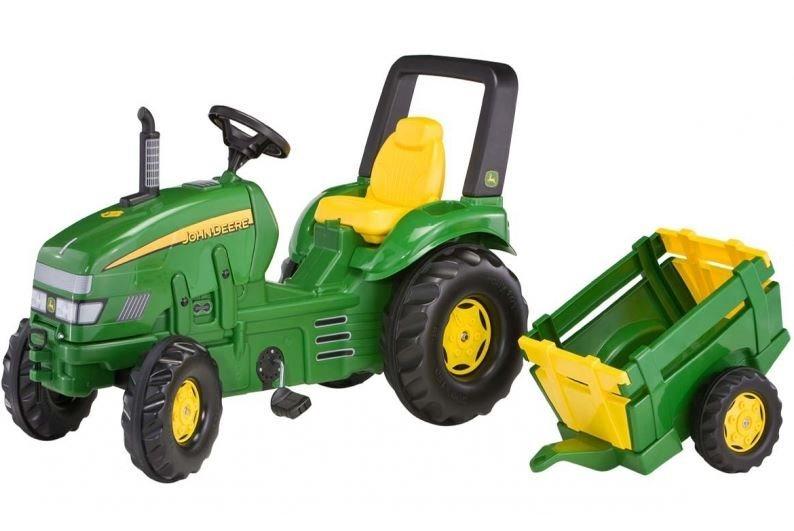 ROLLY TOYS Šlapací traktor John Deere se zemědělským přívěsem