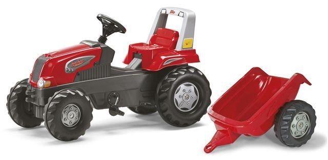 Šlapací traktor Rolly Junior červený s vlečkou