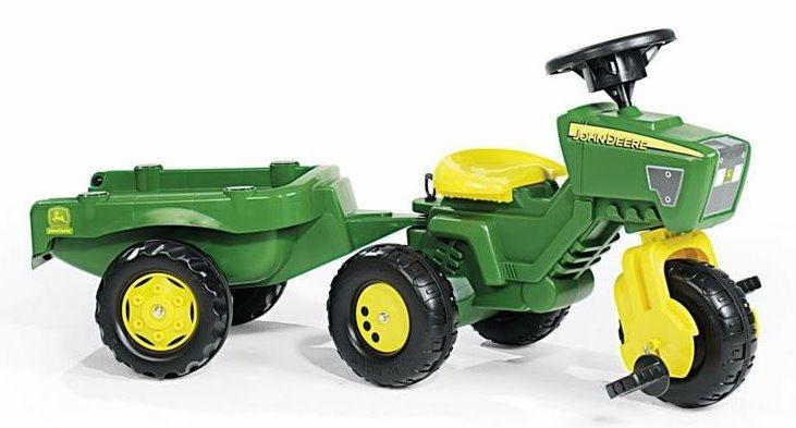 Rolly Toys Šlapací tříkolka John Deere zelený s vlečkou