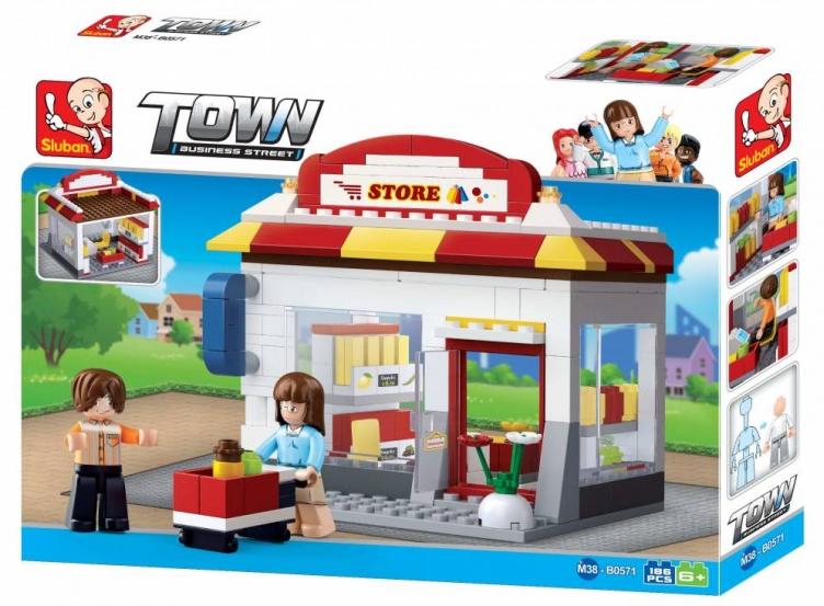 Sluban Town Business Street B0571 Obchod