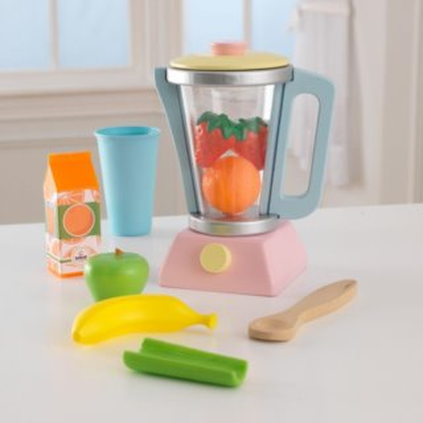 KIDKRAFT Mixér smoothie s příslušenstvím - pastelový