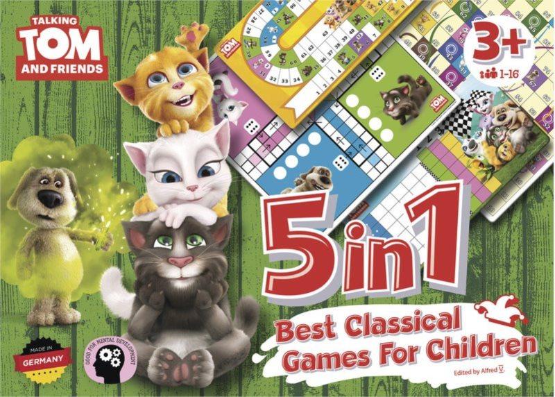 Soubor dětských her 5 v 1 Talking Tom a přátelé