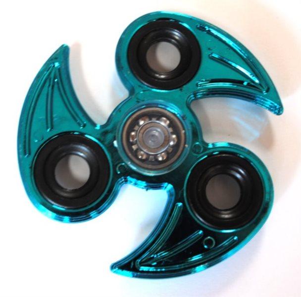 Spinner Drápy chromovaný modrý