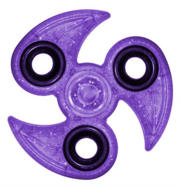 Spinner Drápy třpytivý - fialový