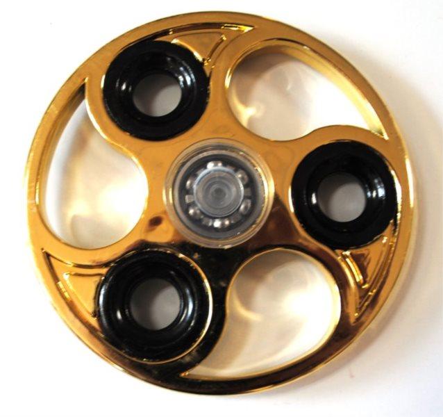 Spinner Kruh chromovaný zlatý