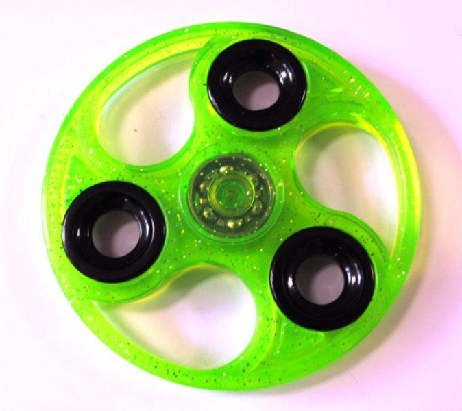 Spinner Kruh třpytivý - zelený