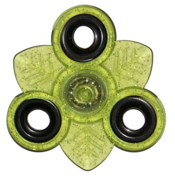 Spinner List třpytivý - zelený