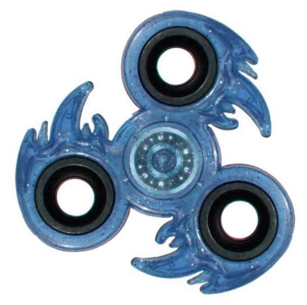 Spinner Oheň třpytivý - modré