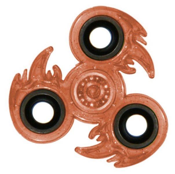 Spinner Oheň třpytivý - oranžový