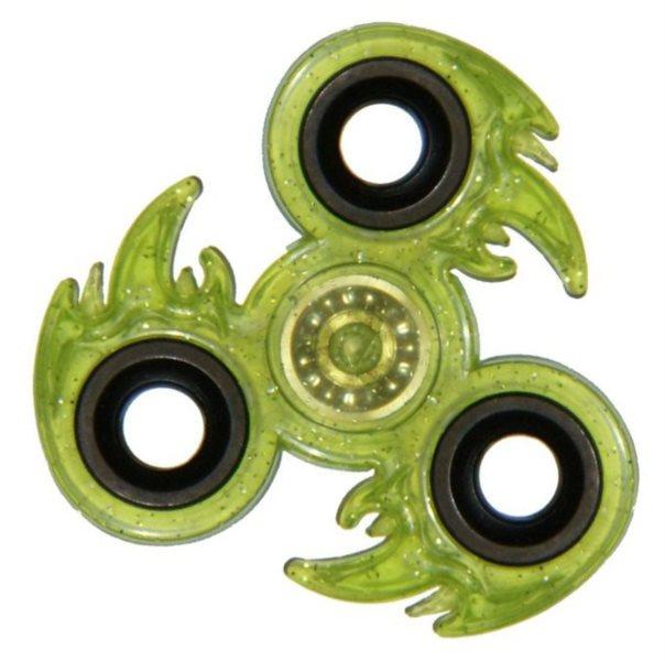 Spinner Oheň třpytivý - zelený