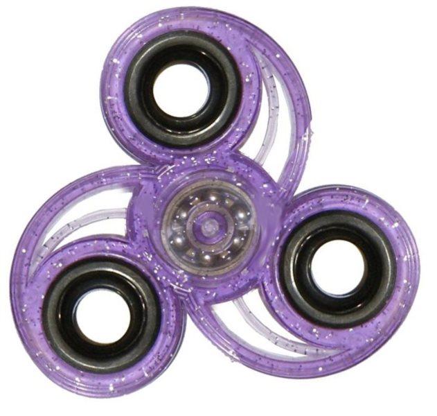 Spinner Spirála třpytivý - fialový