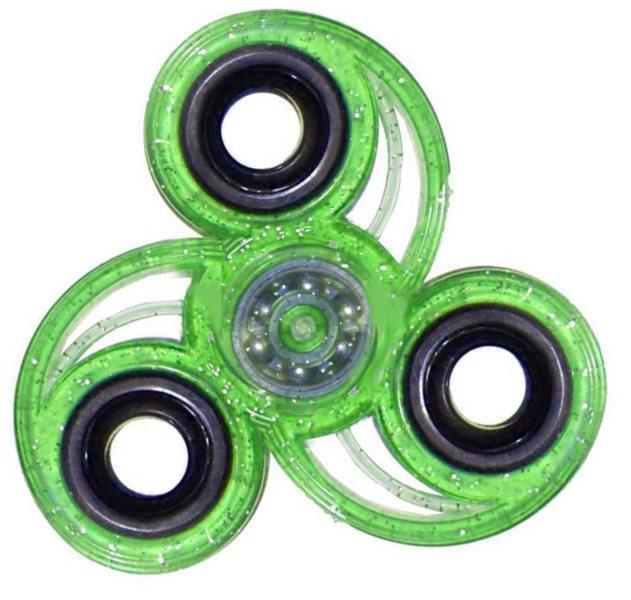 Spinner Spirála třpytivý - zelený