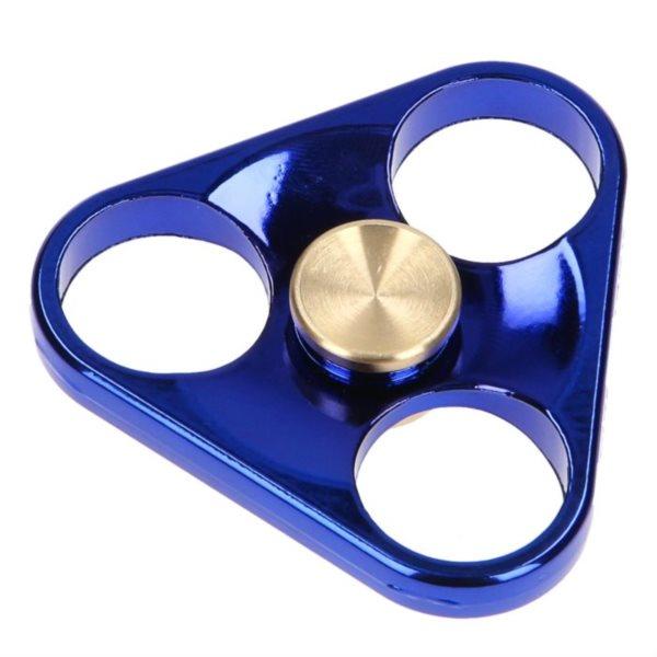 Spinner Trojúhelník kovový modrý