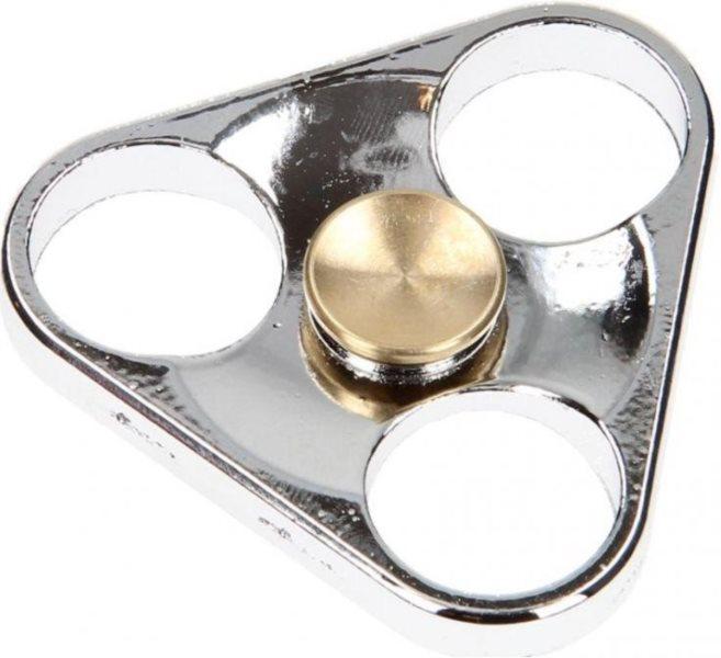 Spinner Trojúhelník kovový stříbrný