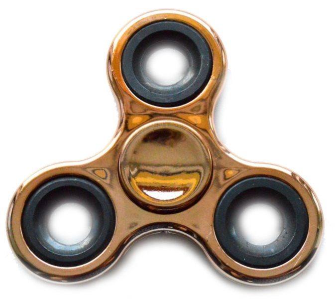 Spinner chromovaný zlatý