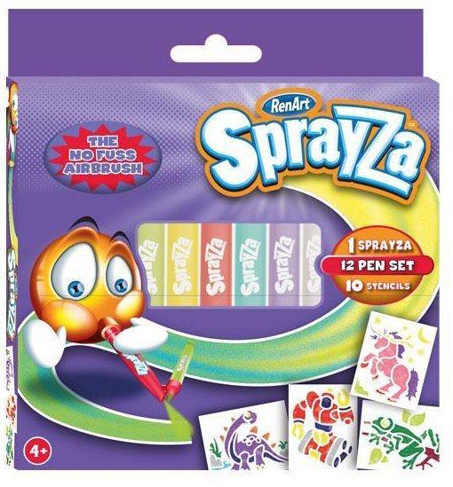RenArt Fixy SprayZa 12-Pen & Stencil Pack